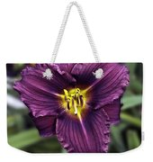 Purple Lilly Weekender Tote Bag