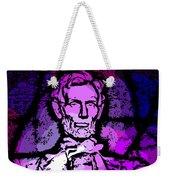Purple Lincoln Weekender Tote Bag