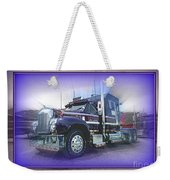 Purple Mack Abstract Weekender Tote Bag
