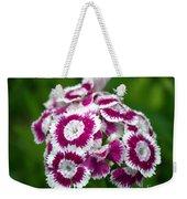 Purple On White Flowers Weekender Tote Bag