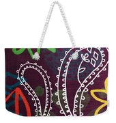 Purple Paisley Garden Weekender Tote Bag