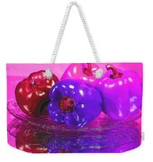 Purple Peppers Weekender Tote Bag