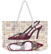 Purple Pumps On Terrazzo Tiles Weekender Tote Bag