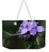 Purple Spiderwort Flowers Weekender Tote Bag