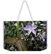 Purple Spring Trail Flower Weekender Tote Bag