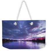 Purple Sunset Weekender Tote Bag