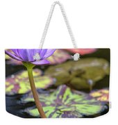 Purple Water Lilly Weekender Tote Bag