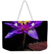 Purple Waterlily Weekender Tote Bag