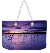 Purple Waters Weekender Tote Bag