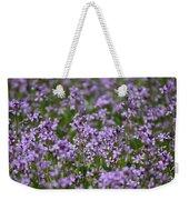Purple Wildflowers Square Weekender Tote Bag