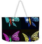 Quad Butterflies Weekender Tote Bag