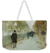 Quai Du Louvre Weekender Tote Bag by Childe Hassam