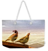 Quail And His Lady Weekender Tote Bag
