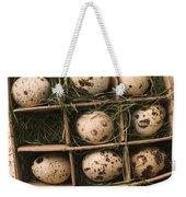Quail Eggs In Box Weekender Tote Bag