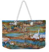 Quality Time At The Marsh Weekender Tote Bag