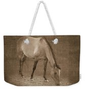 Quarter Horse In Sepia Weekender Tote Bag by Betty LaRue
