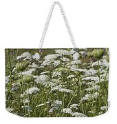 Queen Anne's Lace Fields Forever Weekender Tote Bag