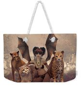 Queen Of Cats Weekender Tote Bag
