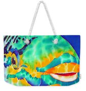 Queen Parrotfish Weekender Tote Bag by Daniel Jean-Baptiste