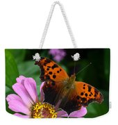 Question Mark Butterfly And Zinnia Flower Weekender Tote Bag