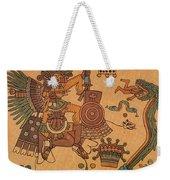 Quetzalcoatl, Aztec Feathered Serpent Weekender Tote Bag