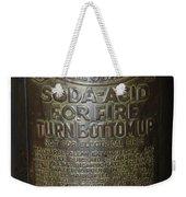 Quick Aid Extinguisher Weekender Tote Bag