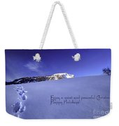 Quiet And Peaceful Christmas Weekender Tote Bag