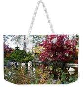 Quiet Autumn Pond Weekender Tote Bag