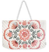 Quilted Centerpiece Weekender Tote Bag
