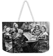 Quilting Party, 1864 Weekender Tote Bag