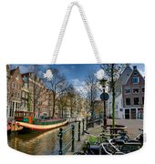 Raamgracht And Groenburgwal. Amsterdam Weekender Tote Bag