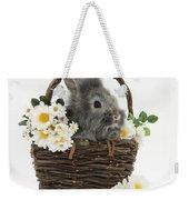 Rabbit In A Basket With Flowers Weekender Tote Bag