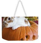 Rabbit Joins The Harvest Weekender Tote Bag by Alanna DPhoto