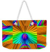 Radiant Rainbow Weekender Tote Bag