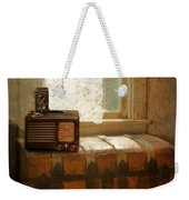 Radio And Camera On Old Trunk Weekender Tote Bag