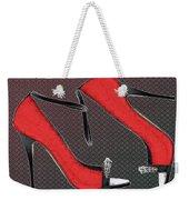 Raging Red Open Toed Stilettos Weekender Tote Bag
