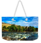 Raging River Weekender Tote Bag by Robert Bales