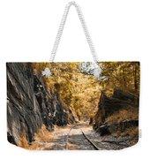 Rail Road Cut Weekender Tote Bag
