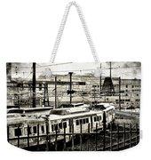 Rail Yard Blues Weekender Tote Bag