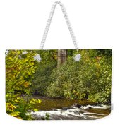 Railroad Bridge 7827 Weekender Tote Bag by Michael Peychich
