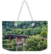 Railroad Bridge At East Falls Philadelphia Weekender Tote Bag