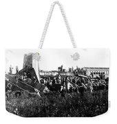 Railroad Collision Weekender Tote Bag