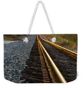 Railroad Tracks At Sundown Weekender Tote Bag