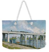 Railway Bridge At Argenteuil Weekender Tote Bag