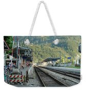 Railway Station West Interlaken Switzerland Weekender Tote Bag