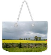 Rain Clouds Over Canola Field Weekender Tote Bag