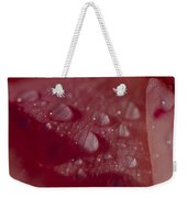 Rain Droplets Magnify The Surface Weekender Tote Bag