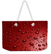 Rain Drops Bloody Red  Weekender Tote Bag