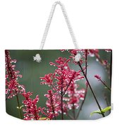 Rain Drops On Firespike  Weekender Tote Bag
