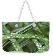 Rain Drops On Grasses Weekender Tote Bag